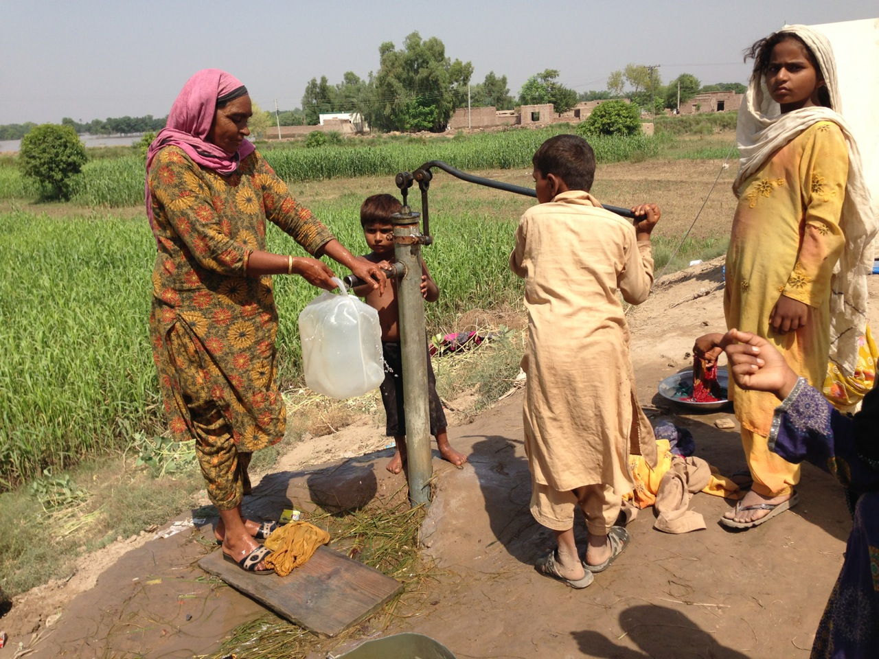 Water hand pump installed through the funding of the Friends of Roots
